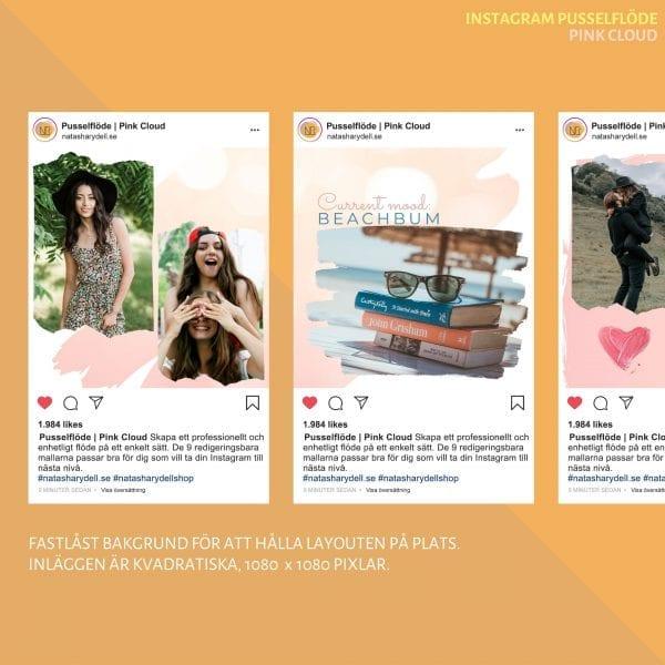 Instagram mallar   Pink Cloud